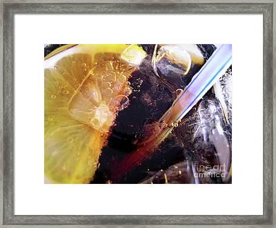 Lemon And Straw Framed Print by Carlos Caetano