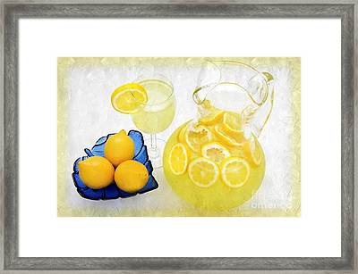 Lemonade And Summertime Framed Print by Andee Design