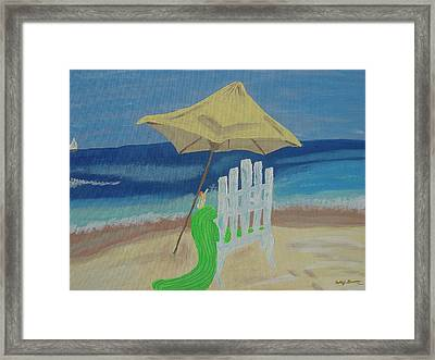 Lemonade On The Beach Framed Print by Bobbi Groves