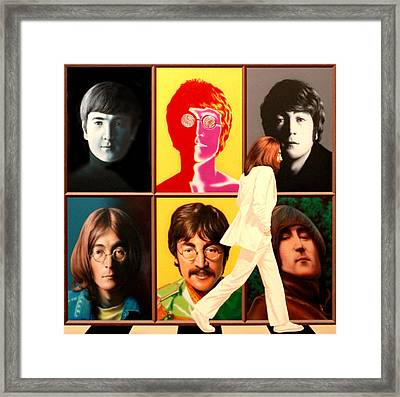 Lennon To The 7th Power Framed Print by Ross Edwards