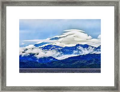 Lenticular And The Chugach Mountains Framed Print by Rick Berk
