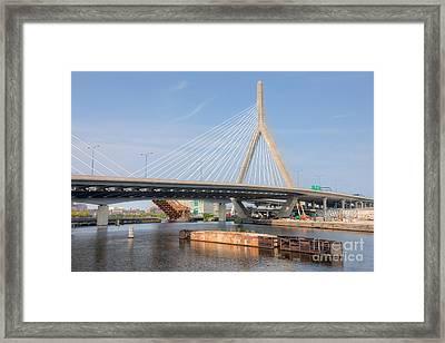 Leonard P. Zakim Bunker Hill Bridge II Framed Print by Clarence Holmes
