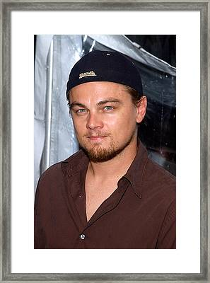 Leonardo Dicaprio Arrives Framed Print by Everett