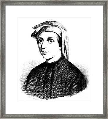 Leonardo Fibonacci Framed Print by Granger