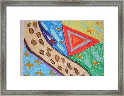 Leopard Print Highway Throught The Galaxy Framed Print by Genoa Chanel