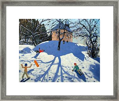 Les Gets Framed Print by Andrew Macara