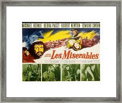 Les Miserables, Michael Rennie, Debra Framed Print by Everett