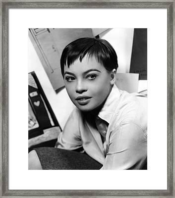 Leslie Caron, Ca. 1950s Framed Print by Everett