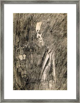 Lester Young Framed Print by Mel Thompson