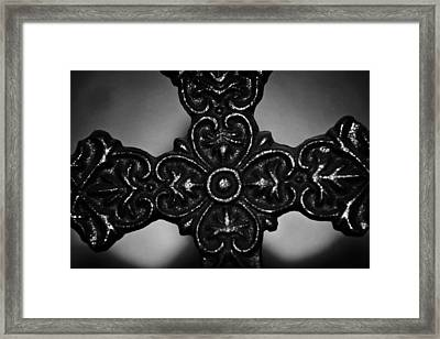 Let Mercy Reign Bw Framed Print by Angelina Vick