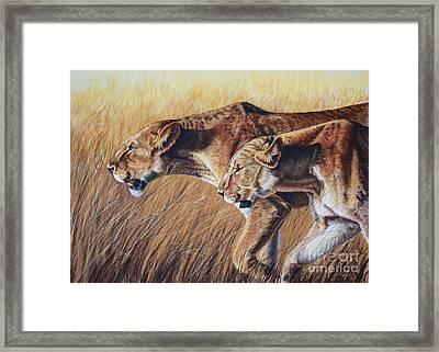 Let The Hunt Begin Framed Print by Deb LaFogg-Docherty