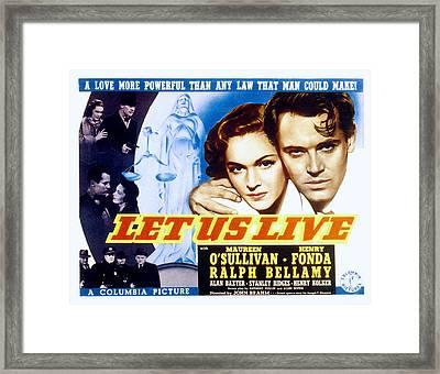 Let Us Live, Maureen Osullivan, Henry Framed Print by Everett
