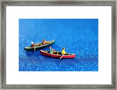 Let's Boating Together Framed Print by Paul Ge