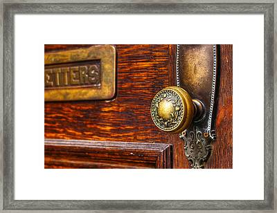 Letters Framed Print by Terry Finegan