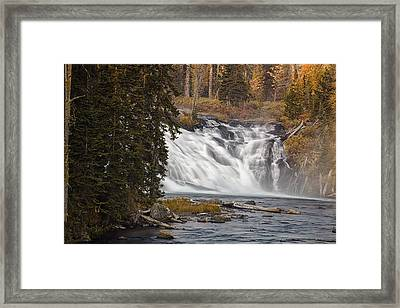 Lewis Falls - Yellowstone Framed Print by Andrew Soundarajan