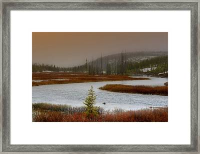 Lewis River - Yellowstone National Park Framed Print by Ellen Heaverlo