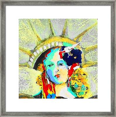 Liberty Framed Print by Claire Sallenger Martin