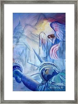Liberty For  All Framed Print by Judy Groves