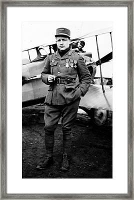 Lieutenant Raoul Lufbury Framed Print by Everett