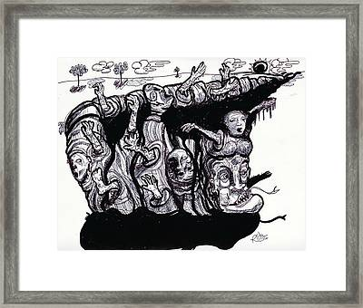 Life Feeds On Life Feeds On Life Framed Print by Robert Wolverton Jr