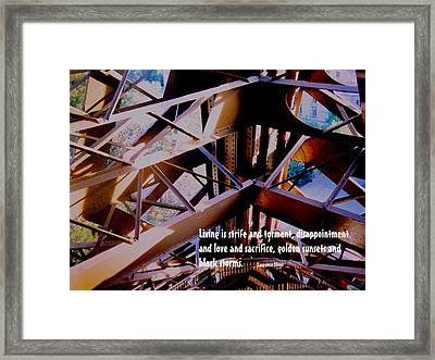 Life Is Strife Framed Print by Ian  MacDonald