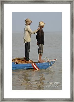 Life On Lake Tonle Sap 4 Framed Print by Bob Christopher