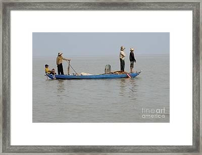 Life On Lake Tonle Sap 5 Framed Print by Bob Christopher
