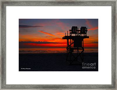 Lifeguard Off Duty Framed Print by Barbara Bowen