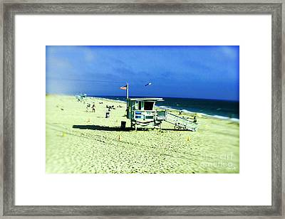 Lifeguard Shack Framed Print by Scott Pellegrin