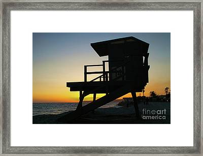 Lifeguard Silhouette Framed Print by Mariola Bitner