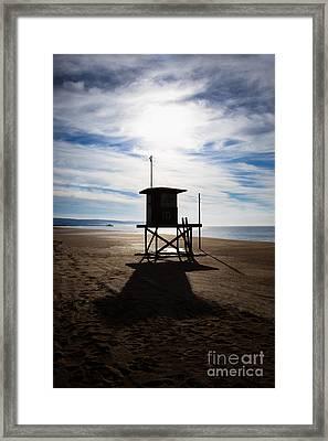 Lifeguard Tower Newport Beach California Framed Print by Paul Velgos