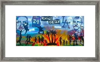 Life's A Beach Framed Print by Tony B Conscious