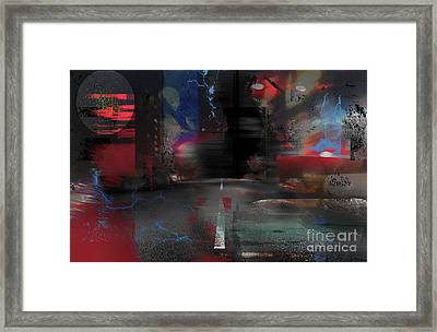 Life's Unexpected Roads Framed Print by Christine Mayfield