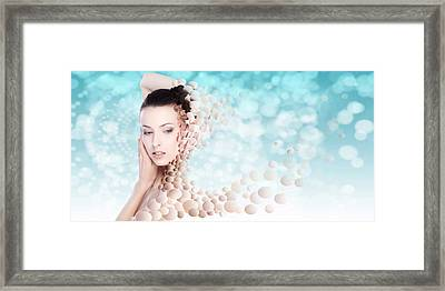 Lifting The Weight Off My Shoulders Framed Print by Rozalia Toth