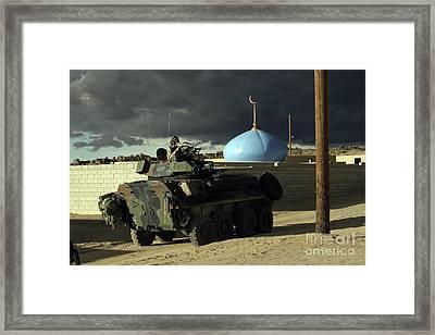 Light Armored Vehicle Commander Mans Framed Print by Stocktrek Images