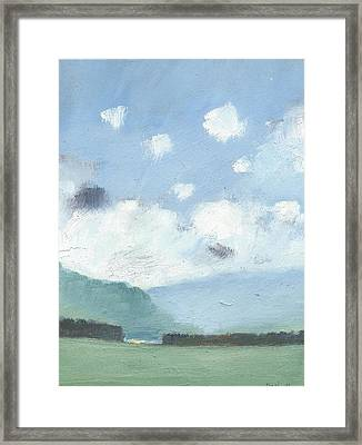Light Blue Morning Framed Print by Alan Daysh