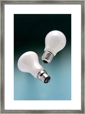 Light Bulb Fittings Framed Print by Sheila Terry