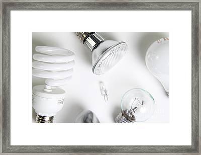 Light Bulbs Framed Print by Photo Researchers, Inc.