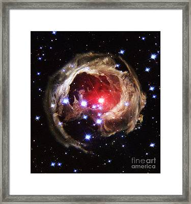 Light Echoes From Exploding Star Framed Print by Space Telescope Science Institute / NASA