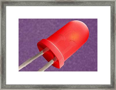 Light-emitting Diode, Sem Framed Print by Power And Syred