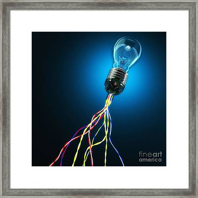 Light Global Connection Framed Print by Gualtiero Boffi