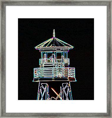 Light House On The Lake Framed Print by Dennis Dugan