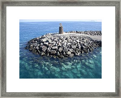 Light House Tower Framed Print by Gonzalo Cabo