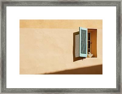 Light On Window Framed Print by Www.saint-tropez-photo.com