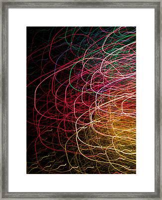 Light Painting 6 Framed Print by Hakon Soreide
