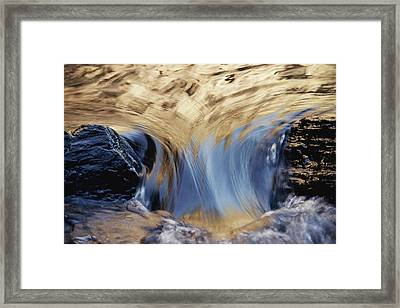 Light Reflected On Water Flowing Framed Print by Jason Edwards