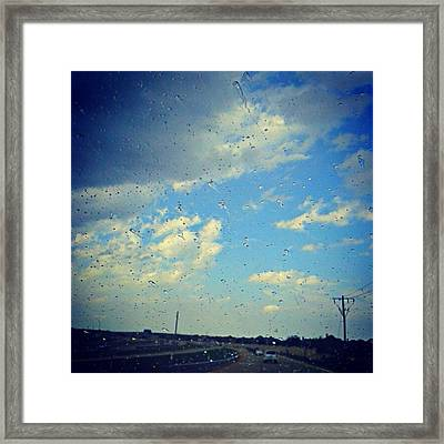 Light Showers In June... #instadroid Framed Print by Kel Hill