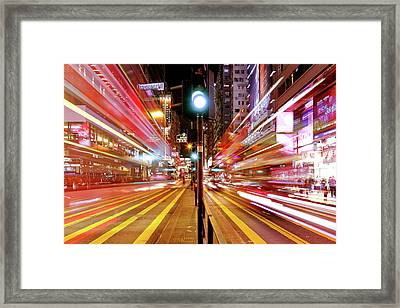 Light Trails Framed Print by Andi Andreas