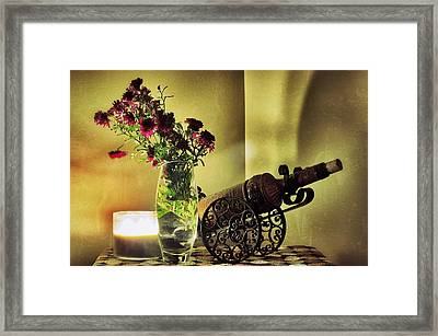 Lighted Petals Framed Print by Scott  Wyatt