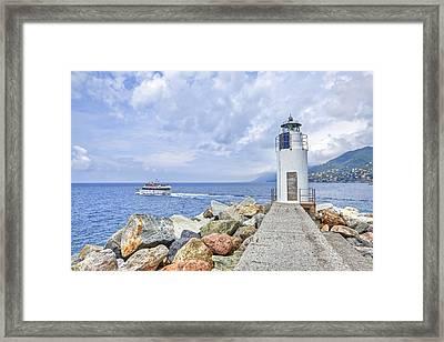 Lighthouse Camogli Framed Print by Joana Kruse
